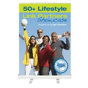 Table Top Retractable Banner Stand w/ Graphic