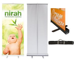 Econo Roll Retractable Banner Stand w/ Graphic - 24x80