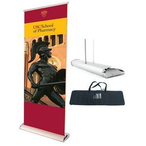 "Deluxe Retractable Banner Stand w/ Graphic - 33.5""x80"""