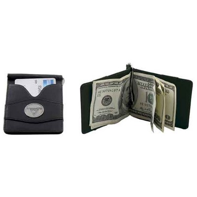 Leather Interior Money Clip Wallet