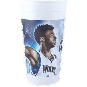 32 oz. Classic Smooth Walled Plastic Stadium Cup with our RealColor360 Imprint