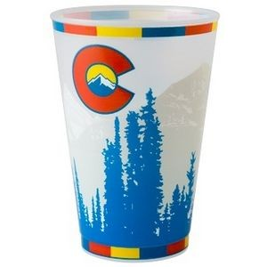 20 oz. Frost-Flex� Reusable, Unbreakable Plastic Stadium Cup with our RealColor360 Imprint