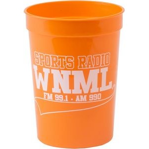 12 oz. Smooth Plastic Stadium Cup