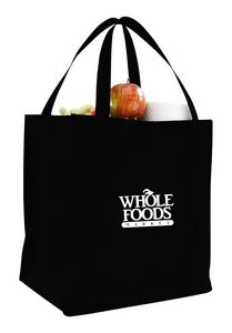 Non Woven Grocery Bag w/ Full Gusset - 1 Color (12 1/2x13 1/2x8 1/2)