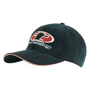 Heavy Brushed Cotton Cap w/ Double Sandwich Visor (Embroidered)