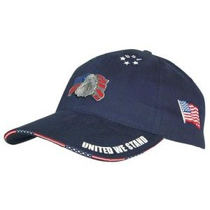 Brushed Cotton Woven Flag Sandwich Cap (Embroidered)
