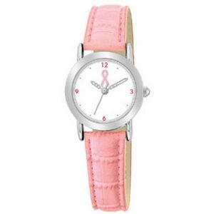 Ladies Promotional Watch With Pink Strap
