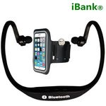 Custom iBank Wireless Bluetooth Headphones for Smartphones and Tablets + Sport Armband