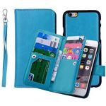 Custom iBank(R) Premium 9 Pockets Wallet PU Leatherette Case for iPhone 7 Plus (5.5