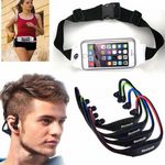 Custom iBank(R) Bluetooth Headphones for Smartphones & Tablets + Running Belt (white)