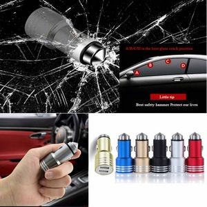 iBank(R) Dual USB Car Charger 3.1A / Emergency Rescue Hammer