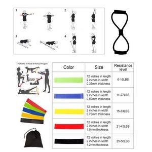 iBank(R) Fitness Resistance Bands Set + Chest Expander Band (Black)