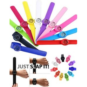 iBank(R) Slap on Silicone Watch Quartz Sports Watch