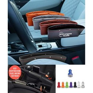 iBank(R) Leatherette Car Organizer + Dual USB Car Charger