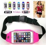 Custom iBank(R) Running Belt, Fitness Belt, Sport Waist Pouch for Smartphones (Rose Pink)