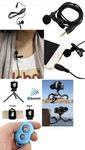 Custom iBank(R) Microphone+Tripod+Bluetooth Shutter for Smartphones (blue)