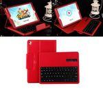 Custom iBank(R) Bluetooth Keyboard Case (Red) for New iPad 2017, iPad Pro 9.7 & iPad Air 2