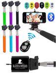 Custom iBank Extendable Monopod Selfie Stick + Bluetooth Remote Shutter