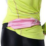 Custom iBank(R) Running Belt, Fitness Belt, Sport Waist Pouch for Smartphones (light pink)