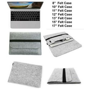"iBank(R) 13"" Felt Sleeve Case with pocket for Laptop Tablet (Gray)"