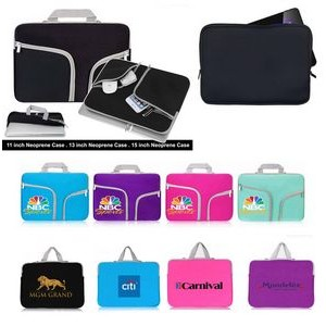"iBank(R) Neoprene Case for 13"" Laptop Tablet Notebook with handle"