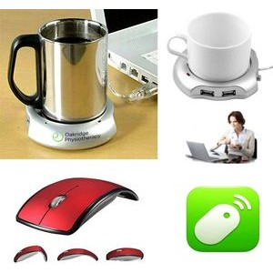 iBank(R)4 Port Hub+Cup Warmer+2.4GHz Wireless Mouse(Red)