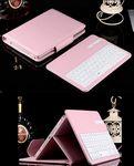 Custom iBank(R) Bluetooth Keyboard Case (Pink) for New iPad 2017, iPad Pro 9.7 & iPad Air 2