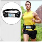 Custom iBank(R) Running Belt with Touchscreen Zipper Pockets for all Smartphones
