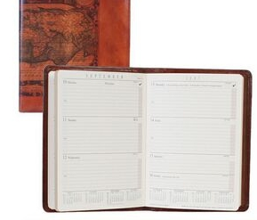 Tooled Calfskin Address/ Telephone Book (Black)