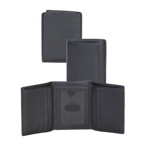 Plonge Leather Tri-Fold Wallet w/ RFID Theft Protection