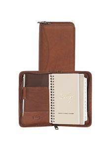 Canyon Leather 3 Way Zipper Pocket Weekly Planner