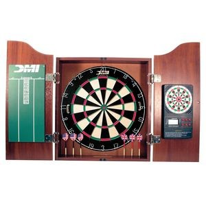 DMI Sports - Dartboard Cabinet With Electronic Scorer - Light Cherry