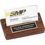 Custom High Gloss Walnut Card Holder w/ Plate (4 1/2
