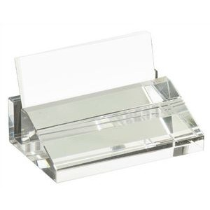 "Crystal Business Card Holder, 4"" x-2 1/2"""