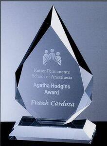 Large Crystal Prestige Flame Award (6x9 3/4)
