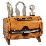 Custom Barrel 4-Piece Wine Tool Set