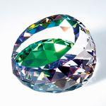 Custom Optical Crystal Color Cut Gem Paperweight