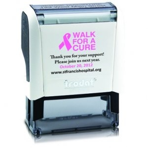 Small Stamp for a Cure Breast Cancer Awareness Self Inking w/ Ad Window
