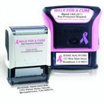 Custom Trodat Large Stamp for a Cure Breast Cancer Awareness Self Inking w/ Ad Window
