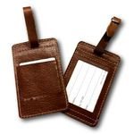 Custom Leather Luggage Tag with pocket for Tracking Tile
