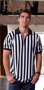 Mens Referee Shirt with Zipper and Collar