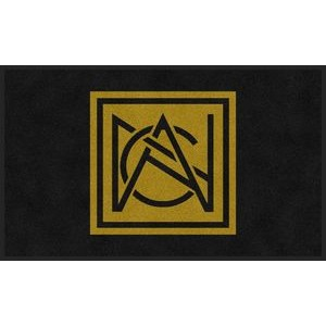 3'x4' Flocked Olefin Indoor Logo Mat - 1 Color