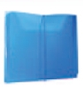 Custom Translucent Blue Pocket File with 1