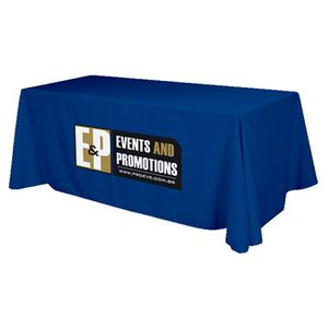 3 Sided Flat Polyester Screen Printed Table Cover (Fits 8 Table)