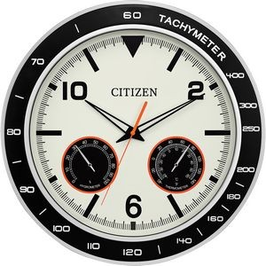 Citizen Water-Resistant Clock with Ihygrometer, Thermometer and Luminescent Hands