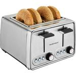 Custom Hamilton Beach Modern Chrome 4-Slice Toaster