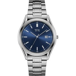 TFX Men's Stainless Steel Bracelet with Blue Dial Watch