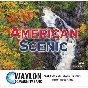 2020 American Scenic Wall Calendar - Stapled
