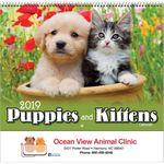 Custom 2018 Puppies & Kittens Spiral Wall Calendar