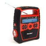 Custom First Alert Portable AM/FM Weather Band Radio with Clock and S.A.M.E. Weather Alert